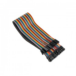 Cable Plano PUENTE 40 POLOS HEMBRA- HEMBRA 30 cm