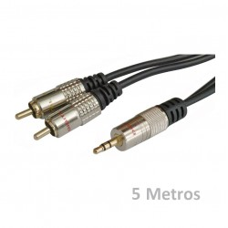 Jack 3.5 mm a 2 RCA Stereo 5 Metros