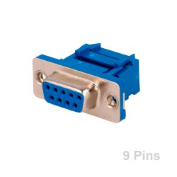 Conector SUB-D 9 Pins Hembra Cable Plano