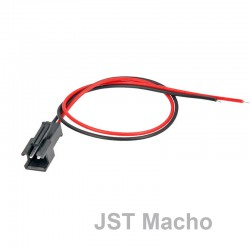 Conector JST Macho 2 pins con Cable