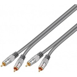 Cable RCA Stereo 1,5 metros